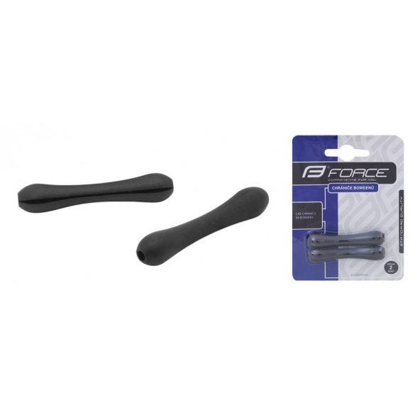 FORCE vázvédő gumi fekete váltó bowdenre 1 pár