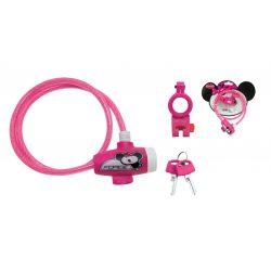 FORCE kerékpár zár gyerekeknek rózsaszín 80cm/8mm