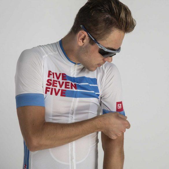 Kerékpáros mez PRO 575 Jeans-White