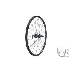 """Fűzött hátsó kerék KLS DRAFT DSC R, 26"""", black"""