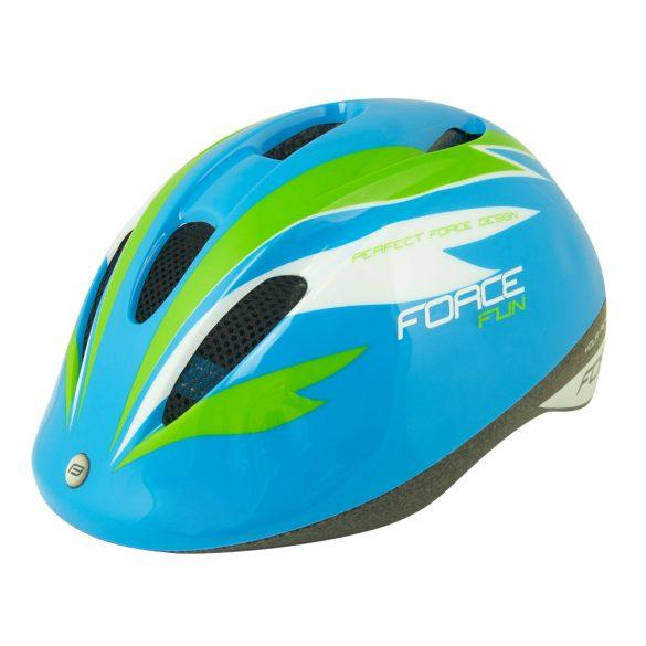 FORCE FUN STRIPES gyerek kerékpáros sisak kék-zöld
