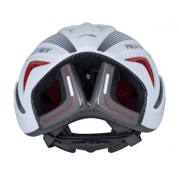 FORCE REX kerékpáros sisak fehér-szürke