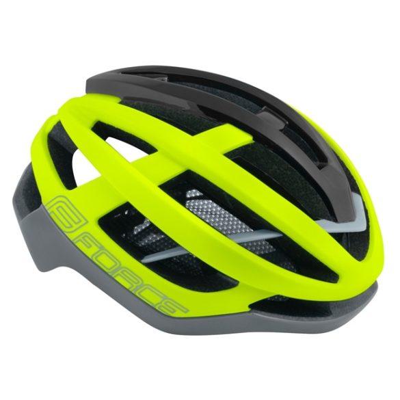 FORCE LYNX kerékpáros sisak fluo-szürke