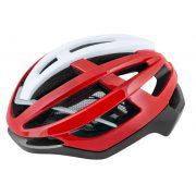 FORCE LYNX kerékpáros sisak fekete-piros-fehér