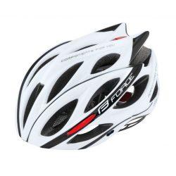 FORCE BULL kerékpáros sisak fehér-fekete