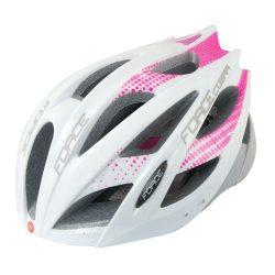 FORCE COBRA kerékpáros sisak fehér-rózsaszín-szürke
