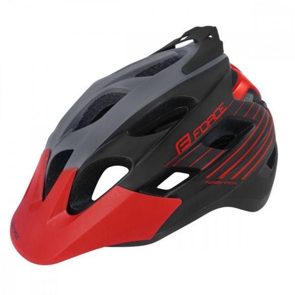 FORCE RAPTOR kerékpáros sisak fekete-piros